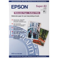 Genuine Epson A3+ 190gsm Watercolour Radiant White Paper - 20 Pack
