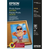 Genuine Epson A4 Photo Paper Glossy - 20 Sheets 200gsm