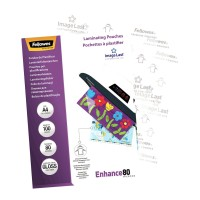 Fellowes Laminating Pouches A4 Gloss 80 micron - 100 pack