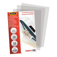 Fellowes Laminating Pouches 54x86mm Gloss 125 micron 100 pack