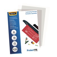 Fellowes Laminating Pouches A4 Gloss 175 micron - 100 pack
