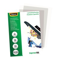 Fellowes Laminating Pouches A4 Gloss 100 micron - 100 pack