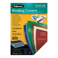 Fellowes Binding Covers A4 250 gsm Black - 100 pack