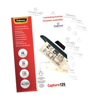 Fellowes Laminating Pouches A4 Gloss 125 micron - 25 pack