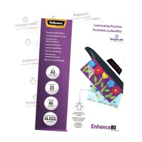 Fellowes Laminating Pouches A3 Gloss 80 micron - 25 pack