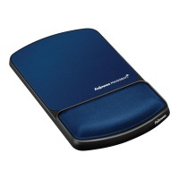 Fellowes Gel Lycra Mouse Pad with Wrist Rest - Sapphire