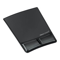Fellowes Gel Wrist Support Mouse Pad Black