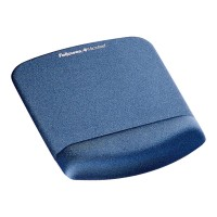 Fellowes PlushTouch Mouse Pad with Wrist Rest - Blue