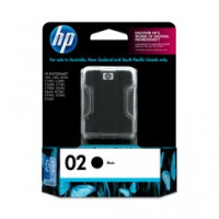Genuine  HP 02 Black Ink Cartridge - C8721WA