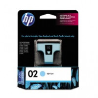 Genuine HP 02 Light Cyan Ink Cartridge - C8774WA