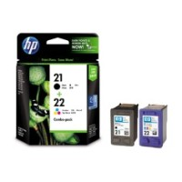 Genuine HP 21 and 22 Ink Cartridge Combo Pack - CC630AA