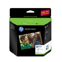 Genuine HP 02 Ink Cartridge Photo Value Pack - CG849AA