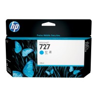 Genuine HP 727 130ml Cyan Ink Cartridge - B3P19A