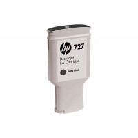 Genuine HP 727 300ml Matte Black Ink Cartridge - C1Q12A