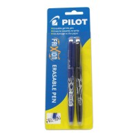Pilot Frixion Ball Erasable Blue Black Gel Pen - 2 Pack