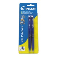 Pilot Frixion Ball Erasable Blue Gel Clicker Pen - 2 Pack