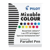 Pilot Parallel Cartridges 12 Pack Assorted Colours (IC-P3-AST)