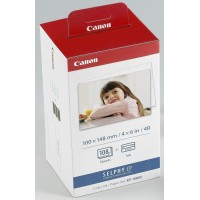 Genuine Canon KP108iN 4x6 Ink and Paper Set - Postcard Size